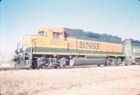 SLSF 687 (09)-BNSF 2357 Columbus, KS. 2-14-99 RR Taylor Photo.jpg