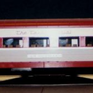 pass.car2 This is what the three cars look like- a 64 seat coach names Pryor, Garland & New Braunfels. A MTH offering