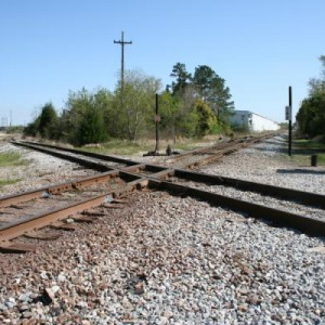 This is the diamond where the line into Mobile crosses what is now the Norfolk Southern line into Mobile. You are looking southeast