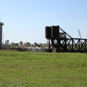 the bridge and tower bfore the CSX yard