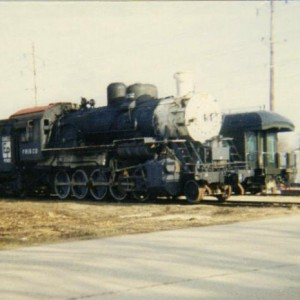 Frisco 1632 on the main line in Belton after its delivery in 1991. This locomotive has since been repainted.