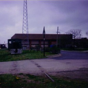 Little Plymouth industrial switcher on the former Leaky Roof line in Belton 1991. The rail group no longer owns this locomotive.