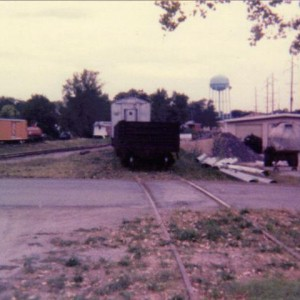 Northern Pacific 65' gondola on siding in Belton, MO. 1991