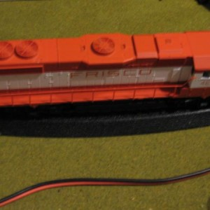 My frisco GP38-2 made by Atlas trainman