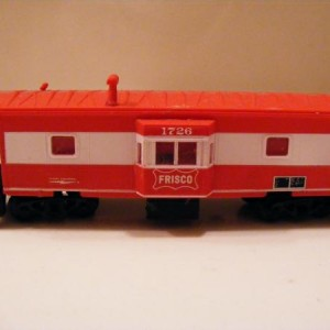 HO frisco bay windoe caboose built by my dad found in his collection