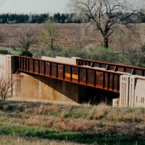 Frisco Old K96 Overpass6 - West of Beaumont, South of El Dorado, East of Haverhill and Picknell Corner - Kodak print - 1990s