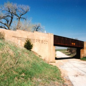 Frisco Old K96 Overpass5 - West of Beaumont, South of El Dorado, East of Haverhill and Picknell Corner - Kodak print - 1990s