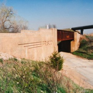 Frisco Old K96 Overpass4 - West of Beaumont, South of El Dorado, East of Haverhill and Picknell Corner - Kodak print - 1990s. Note current US 400 / K9