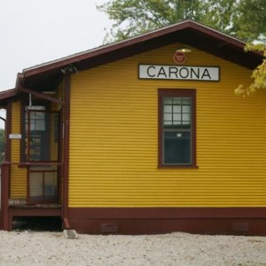 Carona, Ks Depot.  This has been very nicely restored.