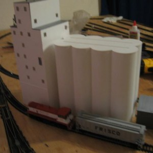 Shot of the new hopper, switcher and the grain elevator