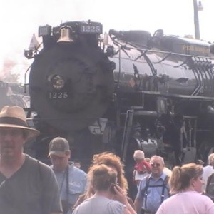 Pere Marquette 1225 and fellow Lima built berk.Nickel Plate Road 765.