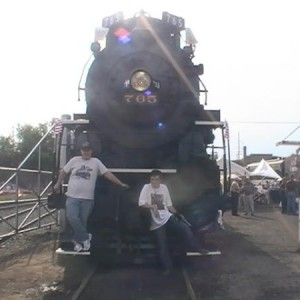 Me and fellow FT. Wayne Railroad Historical Society member/volunteer Troy Kleman.