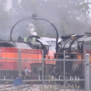 4449 entering the Steam Railroading Institute turntable.