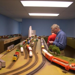 Ron Williams has an iron grip on the MKT Glen Park Yard while Ethan checks in with the Dispatcher with his train location.