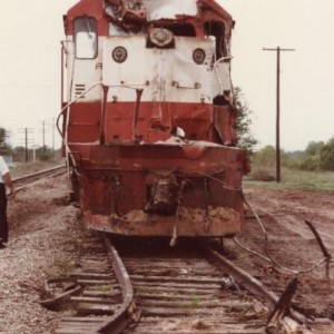 I don't think this spur track was ever used again after this. When the engine came East later in the week I climbed into the cab in Stroud and there w