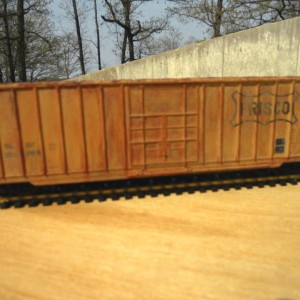 Weathered Frisco beer boxcar
