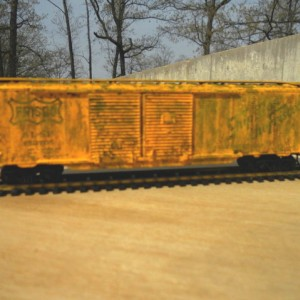 another weathered Frisco boxcar