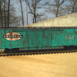 Weathered NYC 50 ft double door boxcar