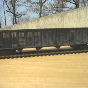 Weathered CB&Q 50 ft 4 bay hopper