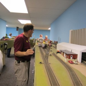 Patrick Furlong is assembling a southbound frieght at Rosedale Yard.  Steve Christiansen will be the engineer on that outbound train.
