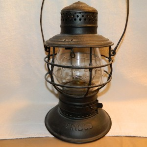 "FRISCO lantern with clear embossed ""FRISCO"" in logo. ""The Handlan"" Bell marked ""FRISCO"""