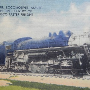 Postcard Frisco Faster Freight
