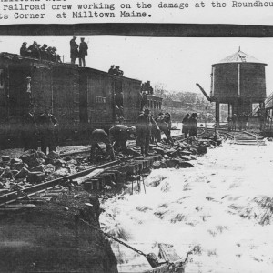 Frisco boxcar in Calais, Maine Flood of 1923