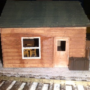 first scratch building project. This building was built with no plan other than a scale height for the roof. I had some Grandt Line windows laying aro
