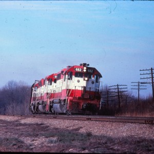 GP38-2 682 - August 1, 1978 - Outside Springfield, Missouri (EVDA Slides)