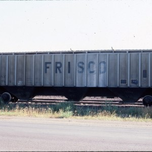 Covered Hopper 79744 - 4750 cubic foot 3 bay PS - August 1983 - Shelby, Montana