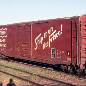 50 Foot Boxcar 47083 - August 1983 - Livingston, Montana