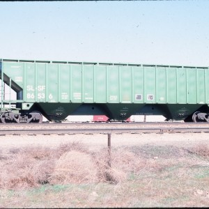 Covered Hopper 86536 (4750 cubic feet) - March 1984 - Laurel, Montana