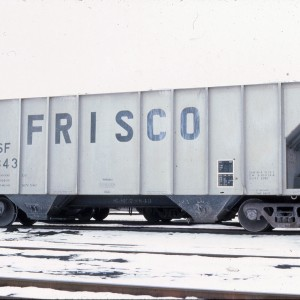 Covered hopper 78843 (2950 cubic feet, built May 1980) March 1984 - Kansas City