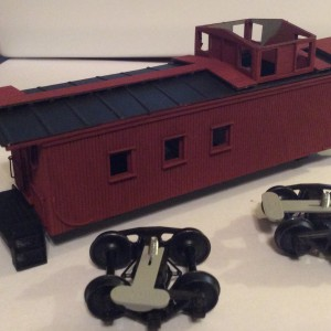 Frisco 3-Window Wood Caboose -- AMB Kit