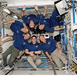 2008) — STS-123 Crew Portrait Aboard The International Space Station ___