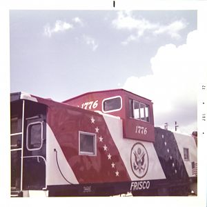 SLSF Caboose 1776 Opposite Side 3/4 View
