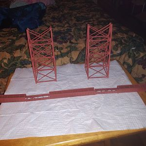 Steel Trestle Towers and Main Span