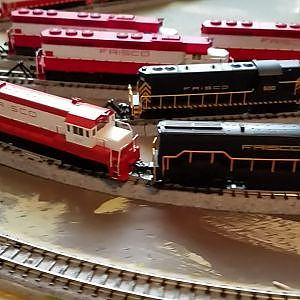 Frisco N Scale Locomotive Roster as of 1/1/2017 - YouTube