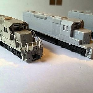 SD38-2 N Scale Frisco Projects - YouTube