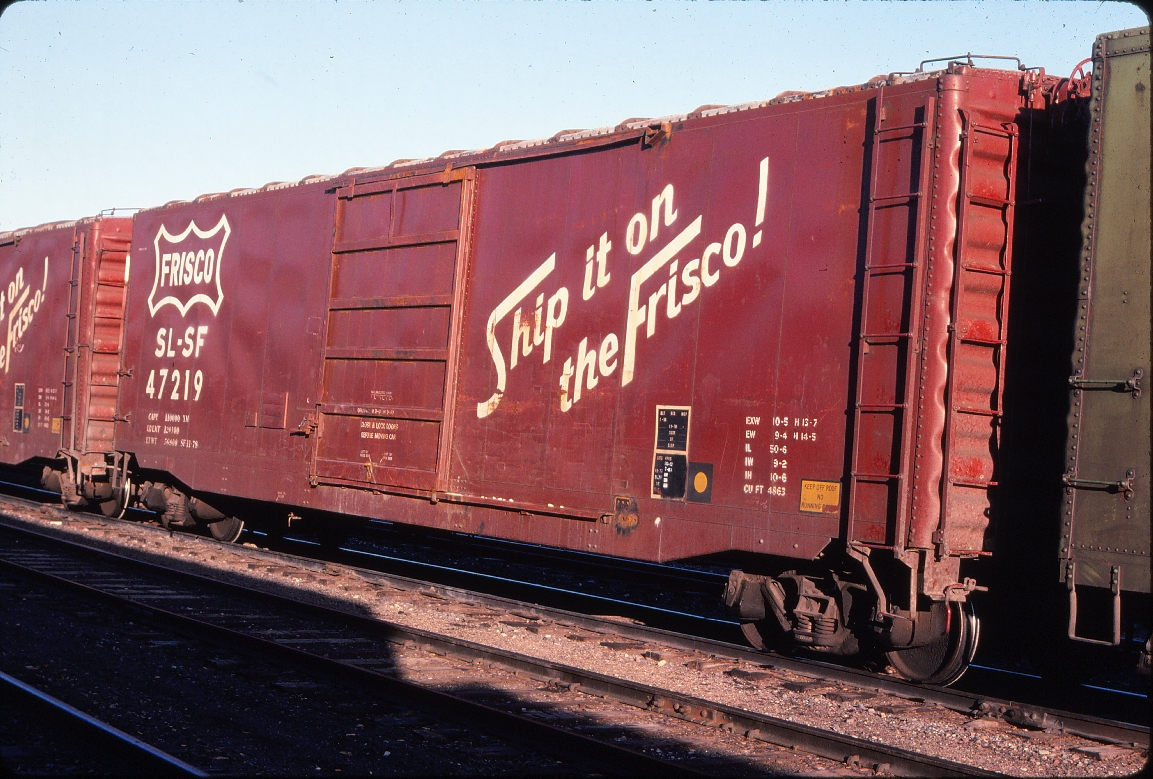 50 Foot Boxcar 47219 - August 1983 - Livingston, Montana