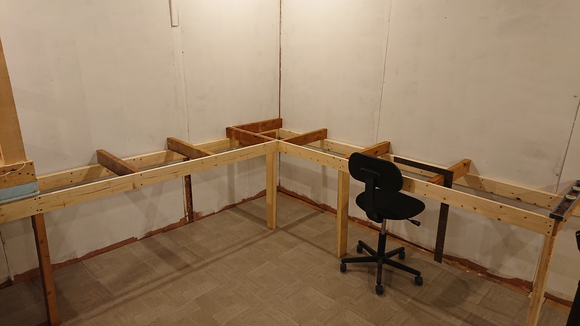 Benchwork in progress