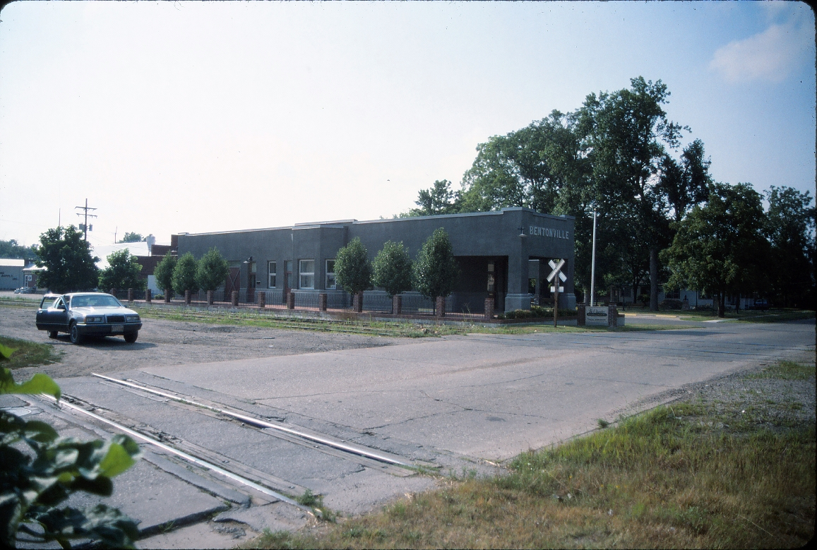 Bentonville, Arkansas Depot - July 1989 - Looking Northwest