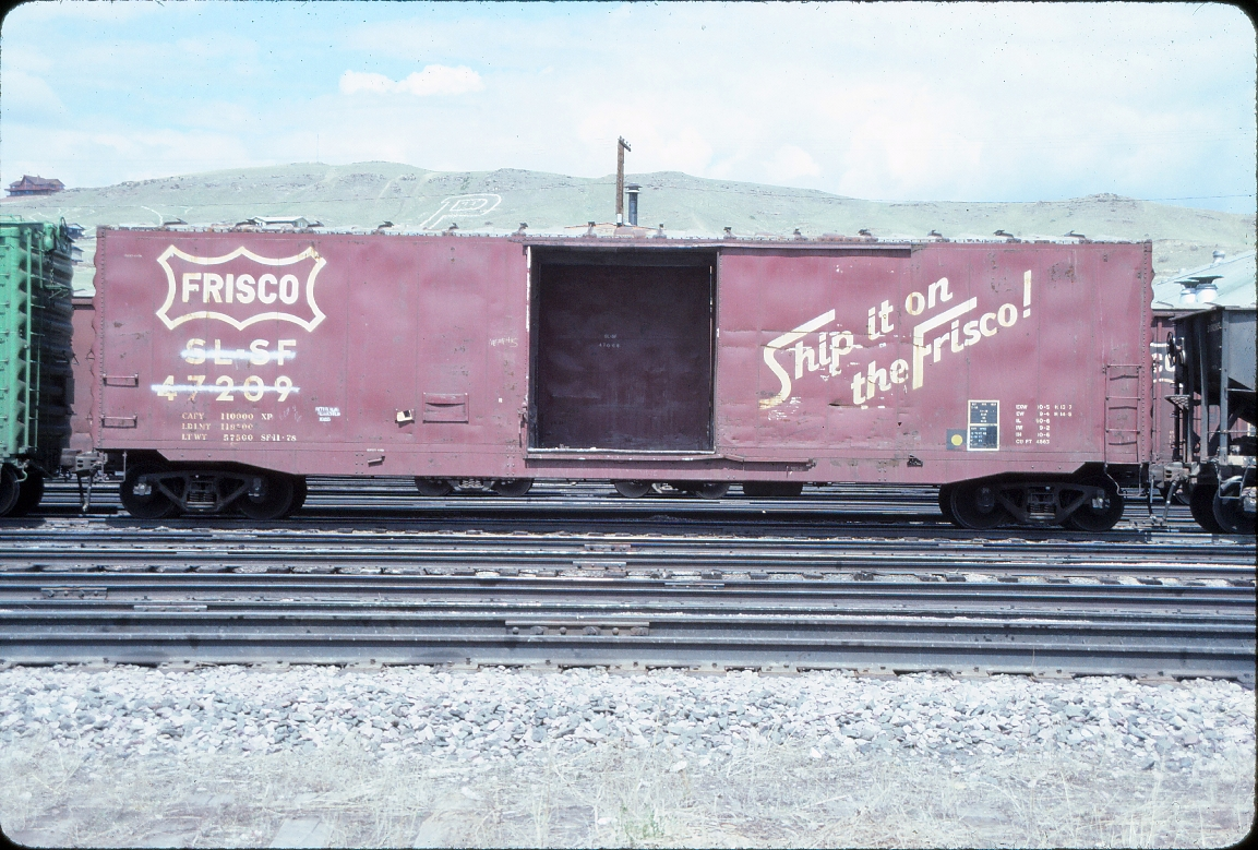 Boxcar 47209 - May 1985 - Livingston, Montana
