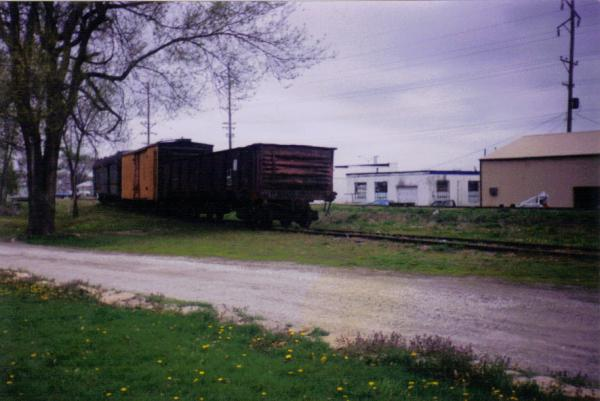 Cars on the old Leaky Roof line in Belton, MO 1991