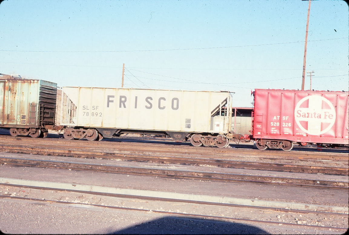 Covered hopper 78892 (2950 cubic feet, built October 1980) - March 1984 - Belen, New Mexico