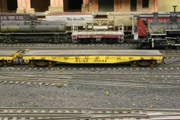 Custom SLSF 95644 from the Texas Western Model Railroad Club store.  Weathering by Mike Corley
