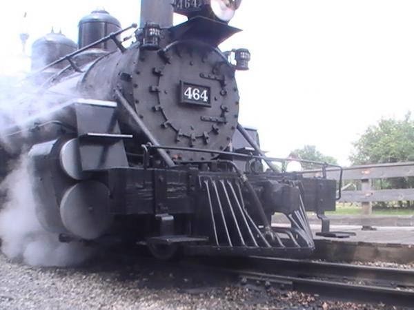 "Day 1 at the Huckelberry Railroad in Flint Michigan.We see EX-Denver Rio Grande Western K-27 or ""Mudhen"" (the 27 means the tracktive effort is 27,000"