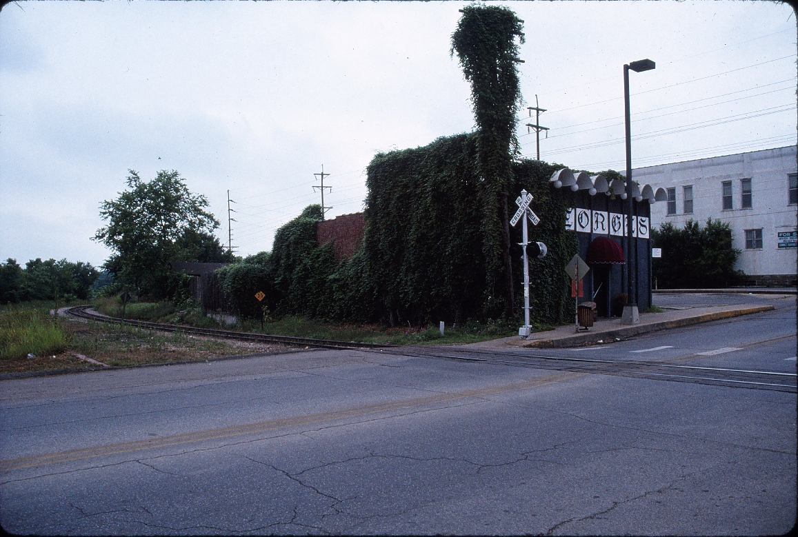 Fayetteville, Arkansas - July 1989 - Across from depot looking Southwest
