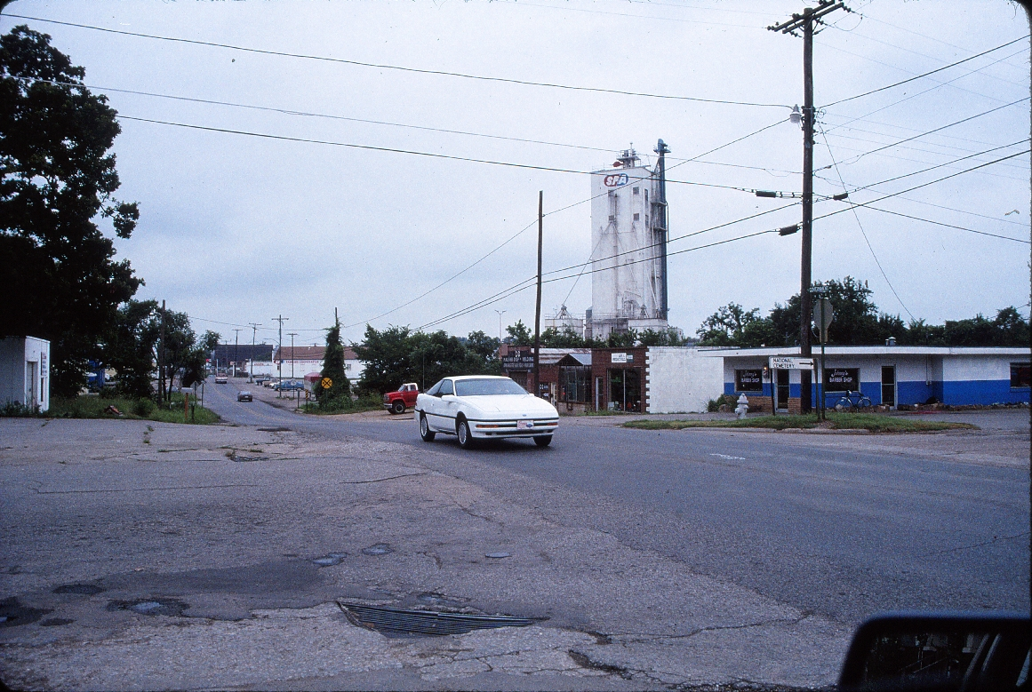 Fayetteville, Arkansas - July 1989 - Grain elevator on 6th Street looking East