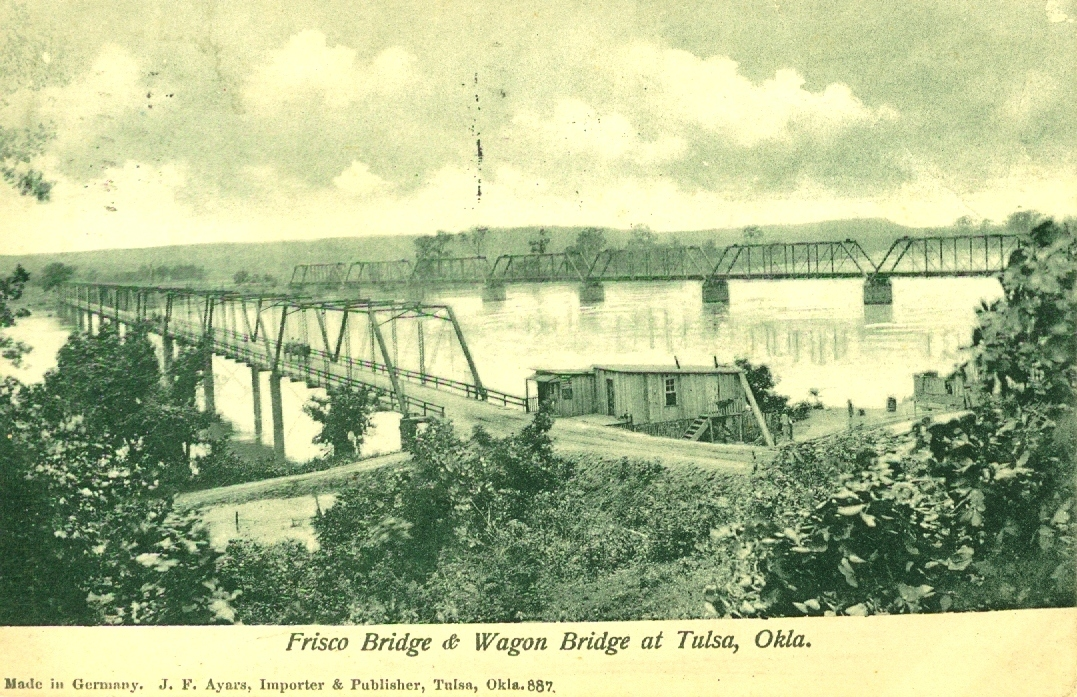 Frisco Bridge Tulsa Postcard
